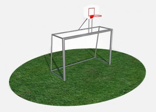 Ворота для минифутбола (гандбола) с баскетбольным щитом СВС-97-1 СВС-97-1 - вид 1
