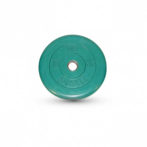 Диск обрезиненный Barbell d 31 мм цветной 10 кг 421 - вид 1