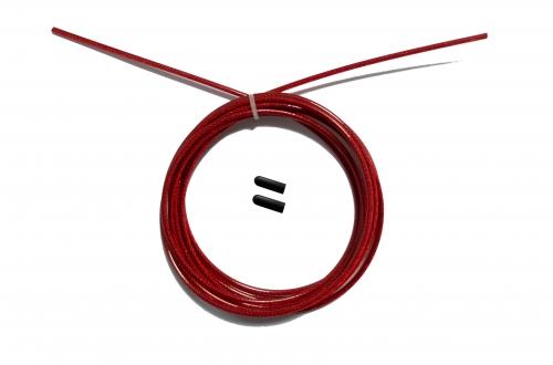 Трос с заглушками скоростной скакалки красный FT-JRCORD-RED - вид 1