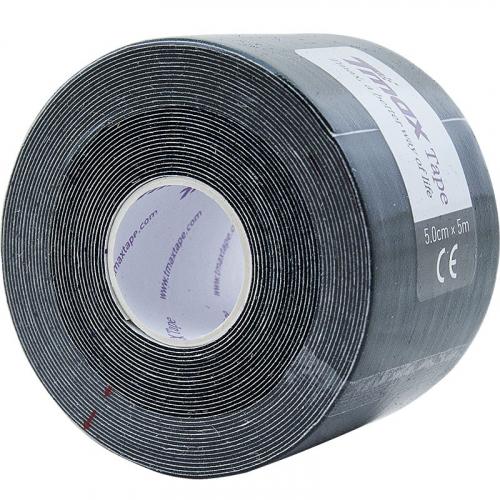 Тейп кинезиологический Tmax Extra Sticky Black (5 см x 5 м), арт. 423143, черный  - вид 1