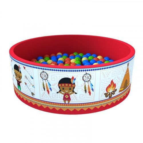 Сухой бассейн «Индейцы» 100 шариков ДМФ-МК-02.52.01 - вид 1