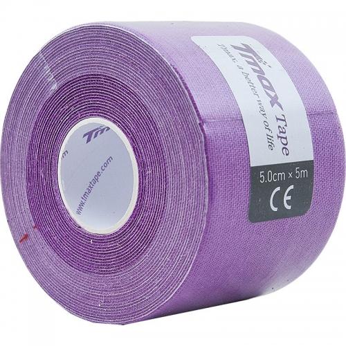 Тейп кинезиологический Tmax Extra Sticky Lavender (5 см x 5 м), арт. 423198, фиолетовый  - вид 1