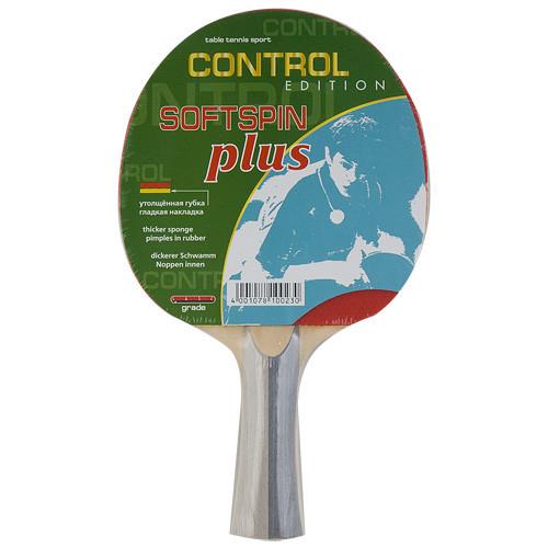 Ракетка для н/т Butterfly Softspin Plus, для начинающих, накладка 1,8 мм, конич. ручка  - вид 1