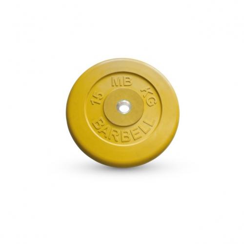 Диск обрезиненный Barbell d 26 мм цветной 15 кг 400 - вид 1