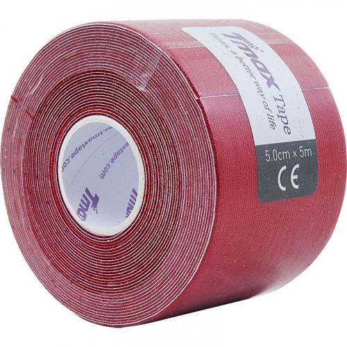 Тейп кинезиологический Tmax Extra Sticky Red (5 см x 5 м), арт. 423150, красный  - вид 1