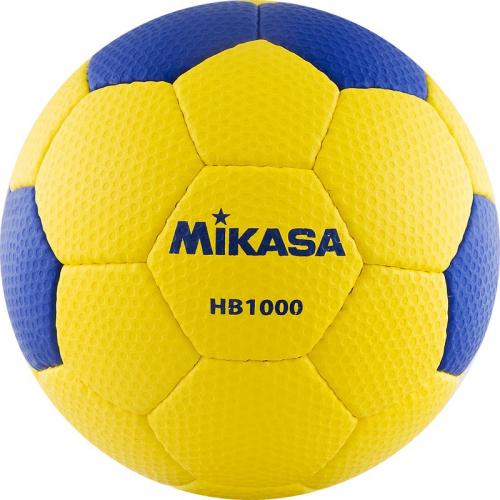 "Мяч гандб. ""MIKASA HB 1000"", синт.кожа, р. 1, руч. сшивка, желто-синий  - вид 1"