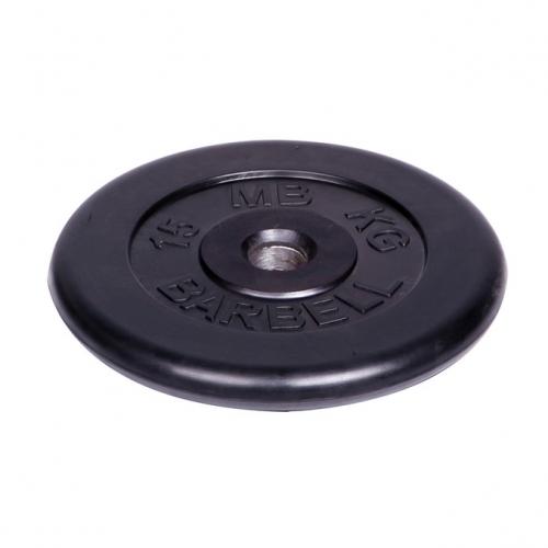 Диск обрезиненный Barbell d 51 мм чёрный 15 кг 448 - вид 1