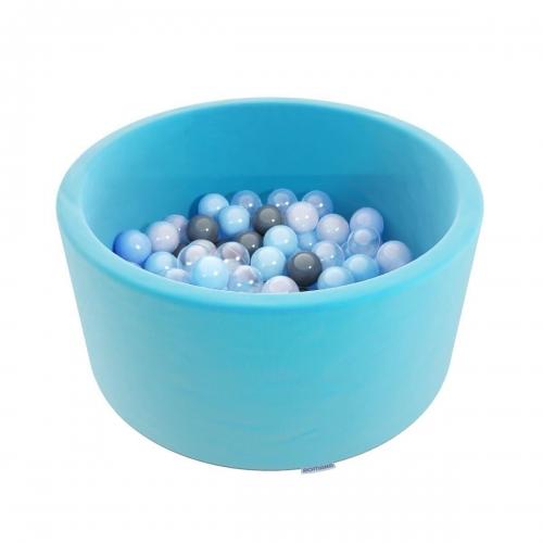 "Сухой бассейн Romana ""Easy"" ДМФ-МК-02.53.03 бирюзовый с серыми шариками SG000005214 - вид 1"