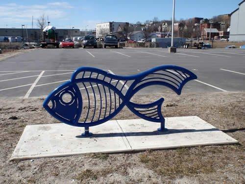 Велопарковка декоративная Золотая рыбка 32469 - вид 1