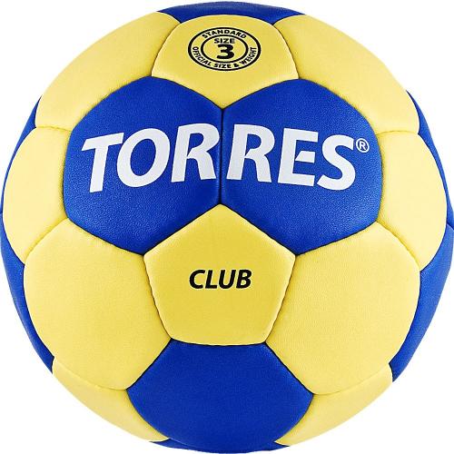 """Мяч ганд. """"TORRES Club"""" арт.H30043, р.3, ПУ, 5 подкл. слоев, сине-желтый  - вид 1"""