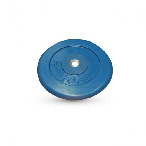 Диск обрезиненный Barbell d 26 мм цветной 20 кг 402 - вид 1