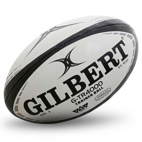 """Мяч для регби """"GILBERT G-TR4000"""" арт.42097805, р.5, резина, ручная сшивка, бело-красно-черный  - вид 1"""