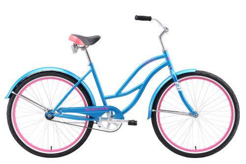 """Велосипед Black One Flora 26 голубой/розовый/белый 16"""" H000010256 - вид 1"""