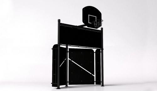 Футбольные ворота с баскетбольной стойкой BF-1 BF-1 - вид 1