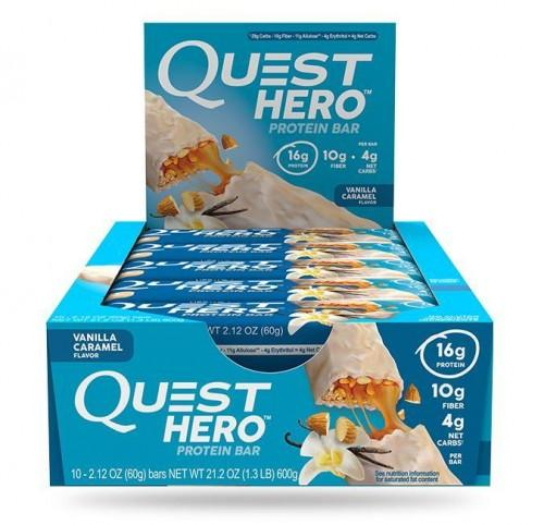 Батончики Quest Hero Bar Vanilla Caramel (10шт)
