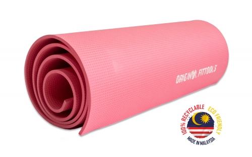 Мат для аэробики 6 мм розовый FT-MPM6PK (KAMA) - вид 1