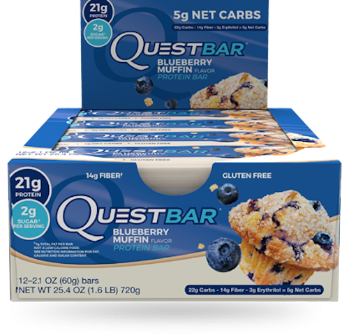 Батончики QuestBar Blueberry Muffin (12 батончиков)