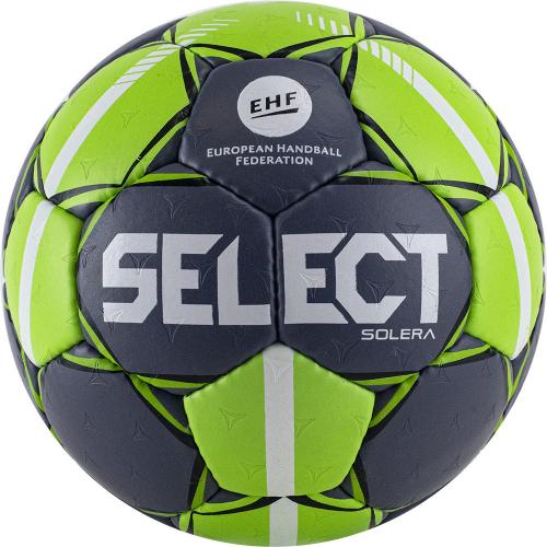 "Мяч ганд. ""SELECT Solera"" арт.843408-994,Senior (р.3), EHF Appr,ПУ, руч.сш, темносеро-лайм  - вид 1"