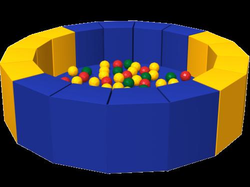 Сухой бассейн с шариками «16 граней» ДМФ-МК-14.19.01 - вид 1