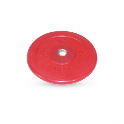 Диск обрезиненный Barbell d 26 мм цветной 25 кг 403 - вид 1