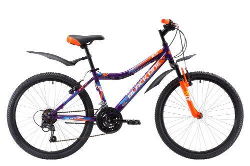 Велосипед Black One Ice 24 фиолетовый/оранжевый/голубой H000010013 - вид 1
