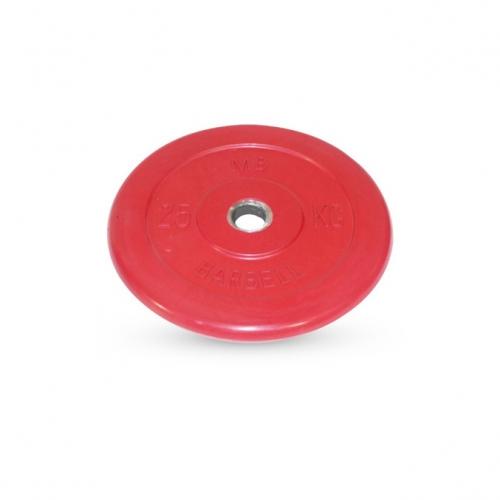 Диск обрезиненный Barbell d 31 мм цветной 25 кг 425 - вид 1